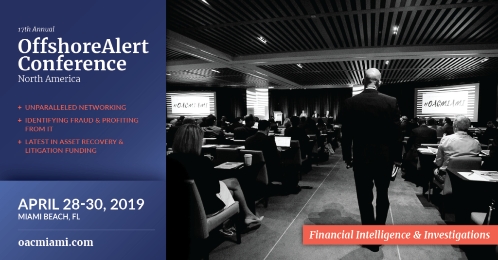 Offshore Tax Enforcement at the 17th Annual OffshoreAlert Conference North America on Financial Intelligence and Investigations - Miami Beach 2019